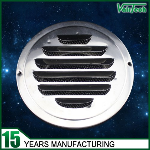 Stainless Steel round grille air vent, corridor air vent with net