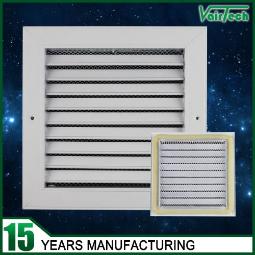 Single deflection air grille with net with sponge, fresh air grille, wholesale return air grille